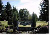 Orchard Hills CC: Entry to Course