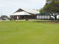 Delaware Springs GC: #18 & clubhouse