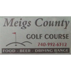 Meigs County Golf Course Logo