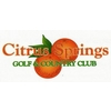 Citrus Springs Golf & Country Club - Semi-Private Logo