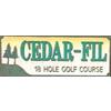 Cedar-Fil Golf Course - Public Logo
