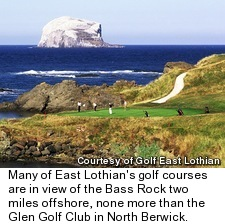 Glen Golf Club - View of Bass Rock