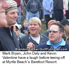 Mark Bryan, John Daly and Kevin Valentine Together