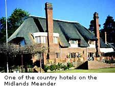 One of the country hotels on the Midlands Meander