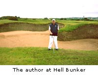 The author at Hell Bunker