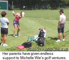 Michelle Wie with Parents